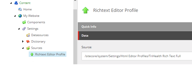 Site-Specific RichText Editor Source